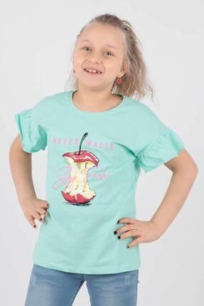 Ahenk Kids Kız Çocuk Elma Baskılı Tshirt Ak721507 2