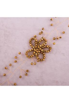 Altın Rengi Kristal Saç Aksesuarı GM147907