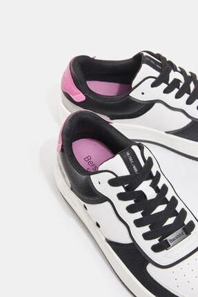 Bershka Kadın Beyaz Kontrast Kabartmalı Spor Ayakkabı 3