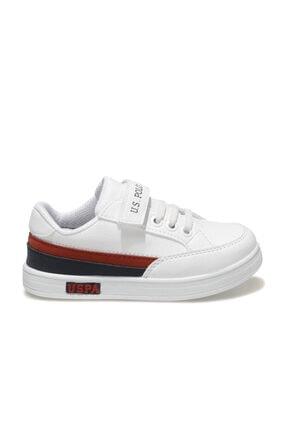US Polo Assn JAMAL 1FX Beyaz Erkek Çocuk Sneaker Ayakkabı 100911024 1