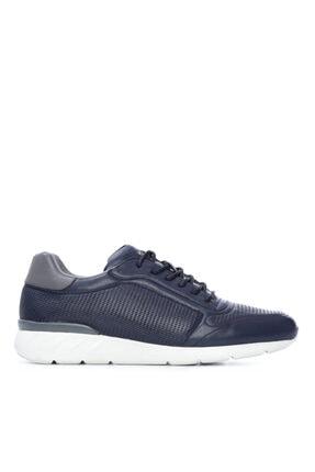 Kemal Tanca Erkek Lacivert Derı Sneakers 708 1510 Erk Ayk Sk20-21 0