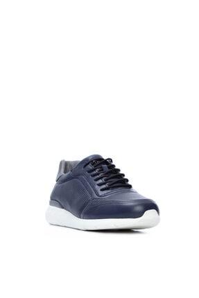 Kemal Tanca Erkek Lacivert Derı Sneakers 708 1510 Erk Ayk Sk20-21 1