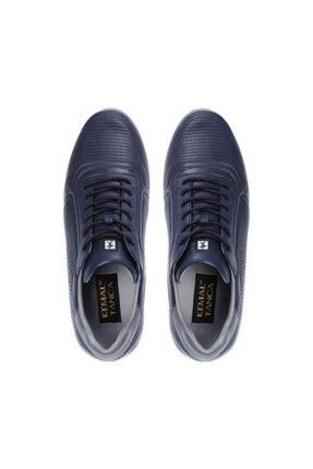 Kemal Tanca Erkek Lacivert Derı Sneakers 708 1510 Erk Ayk Sk20-21 3