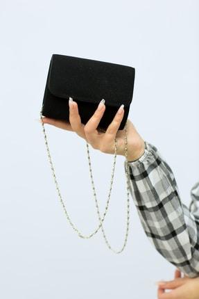 weem bag Kadın Siyah  Minik Nubuk Portföy Çanta 2