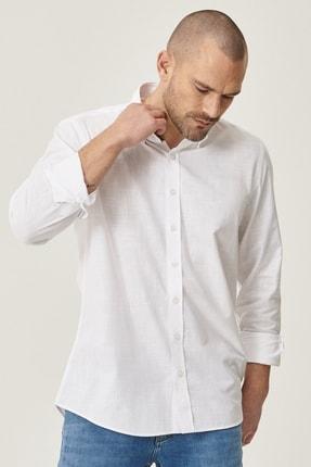 Altınyıldız Classics 2 Al Sepette Ek %20 İndirim Beyaz Tailored Slim Fit Dar Kesim Düğmeli Yaka %100 Koton Gömlek 2