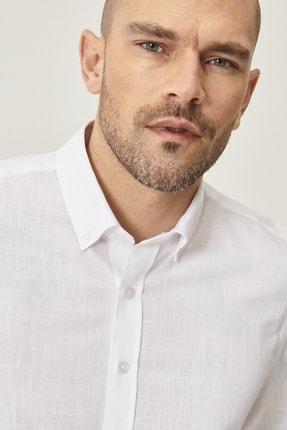 Altınyıldız Classics 2 Al Sepette Ek %20 İndirim Beyaz Tailored Slim Fit Dar Kesim Düğmeli Yaka %100 Koton Gömlek 4