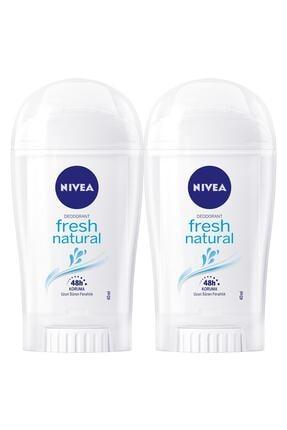 Nivea Fresh Natural Kadın Deodorant Stick 40 ml  2'Li 0