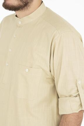Erkek Beyaz Flamlı Gomlek GMLK004