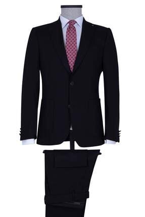 Hatemoğlu Erkek Siyah Slim Fit Takım Elbise 0