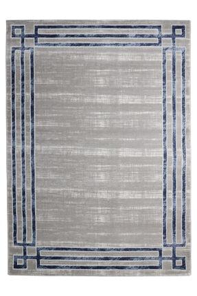 RUG PAGE Modern Kaliteli Dekoratif Salon Ve Oturma Odası Halısı-mavi Çerçeve Elit 0
