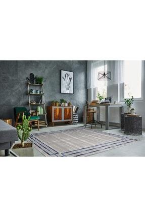 RUG PAGE Modern Kaliteli Dekoratif Salon Ve Oturma Odası Halısı-mavi Çerçeve Elit 3