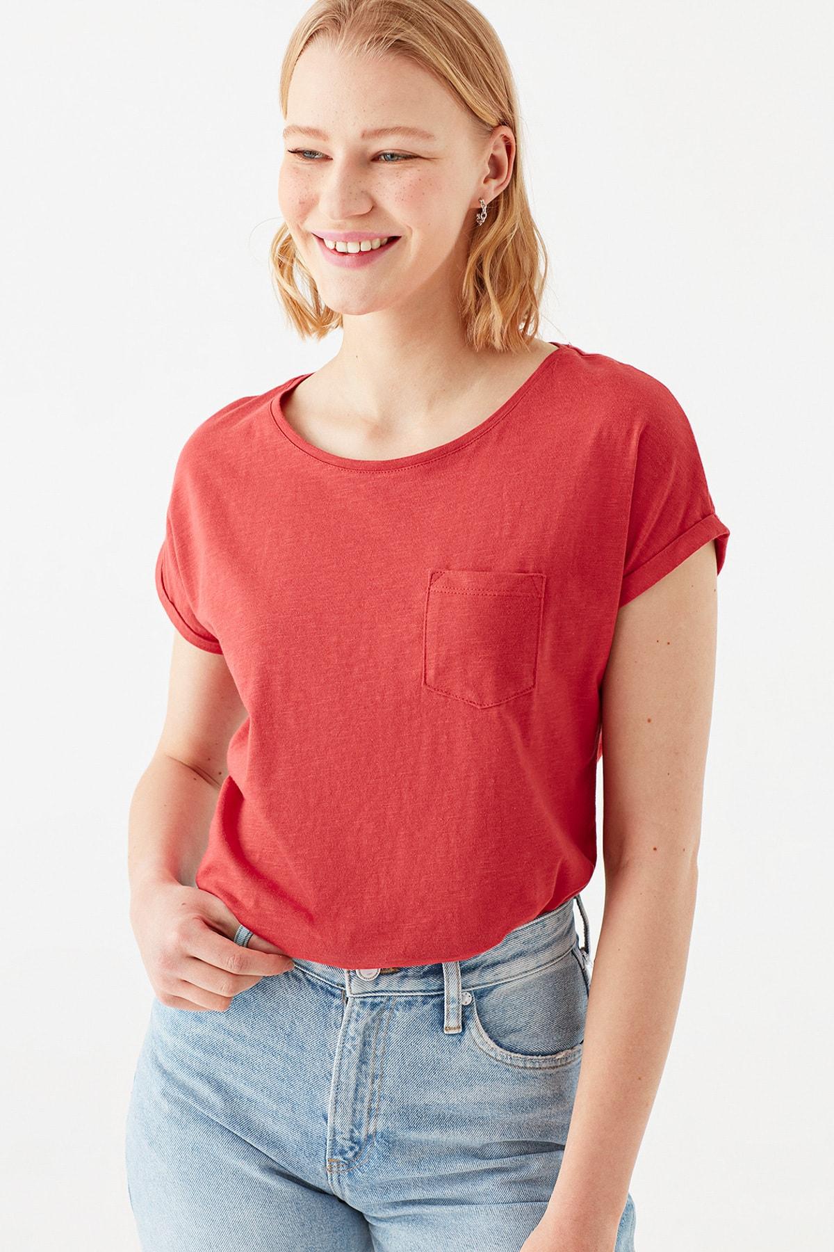 Cepli Kırmızı Basic Tişört 165846-30734