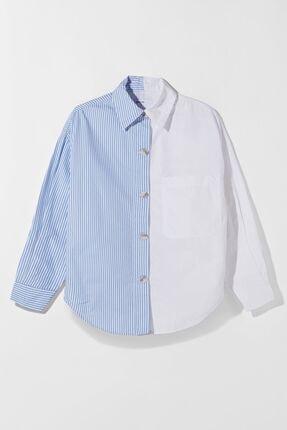 Bershka Kadın Beyaz Poplin Ince Ceket 4