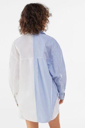 Bershka Kadın Beyaz Poplin Ince Ceket 1