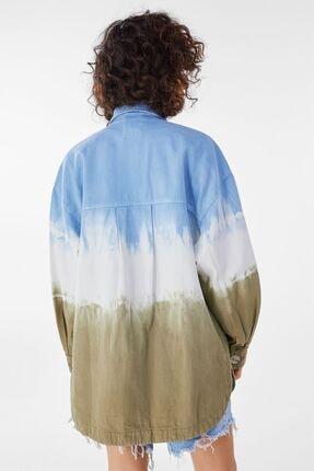 Bershka Kadın Haki Batik İnce Ceket 1