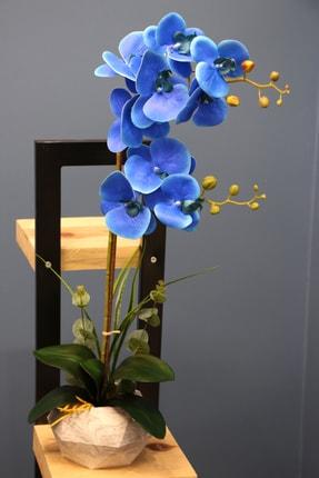 Yapay Çiçek Deposu Dekoratif Nismo Yapay Orkide 2'li 65 cm 1