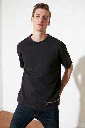 Picture of Antrasit Erkek Regular Fit  Fermuar Detaylı Sweatshirt TMNSS21SW0253