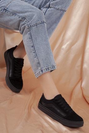Daxtors Unisex Siyah Günlük Ortopedik Sneaker D044 3