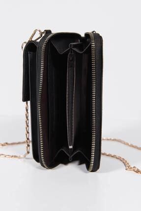 Addax Kadın Siyah Telefon Bölmeli Cüzdan Çantası Czdn74 - F6 Adx-0000022976 4