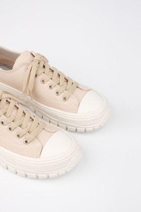 Marjin Kadın Bej Sneaker Spor Ayakkabı Antur 3
