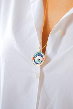 Gui Jewellery Kadın Gümüş Universe Madalyon Kolye 2