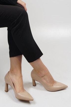 Marjin Kadın Bej Stiletto Topuklu Ayakkabı Akuna 3