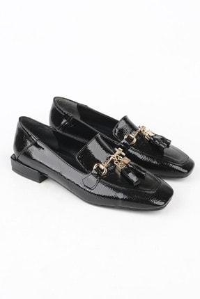 Marjin Kadın Siyah Rugan Loafer Ayakkabı Desar 4