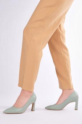 Marjin Kadın Yeşil Stiletto Topuklu Ayakkabı Akuna 1