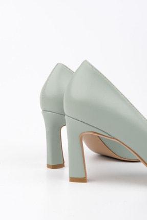 Marjin Kadın Yeşil Stiletto Topuklu Ayakkabı Akuna 4