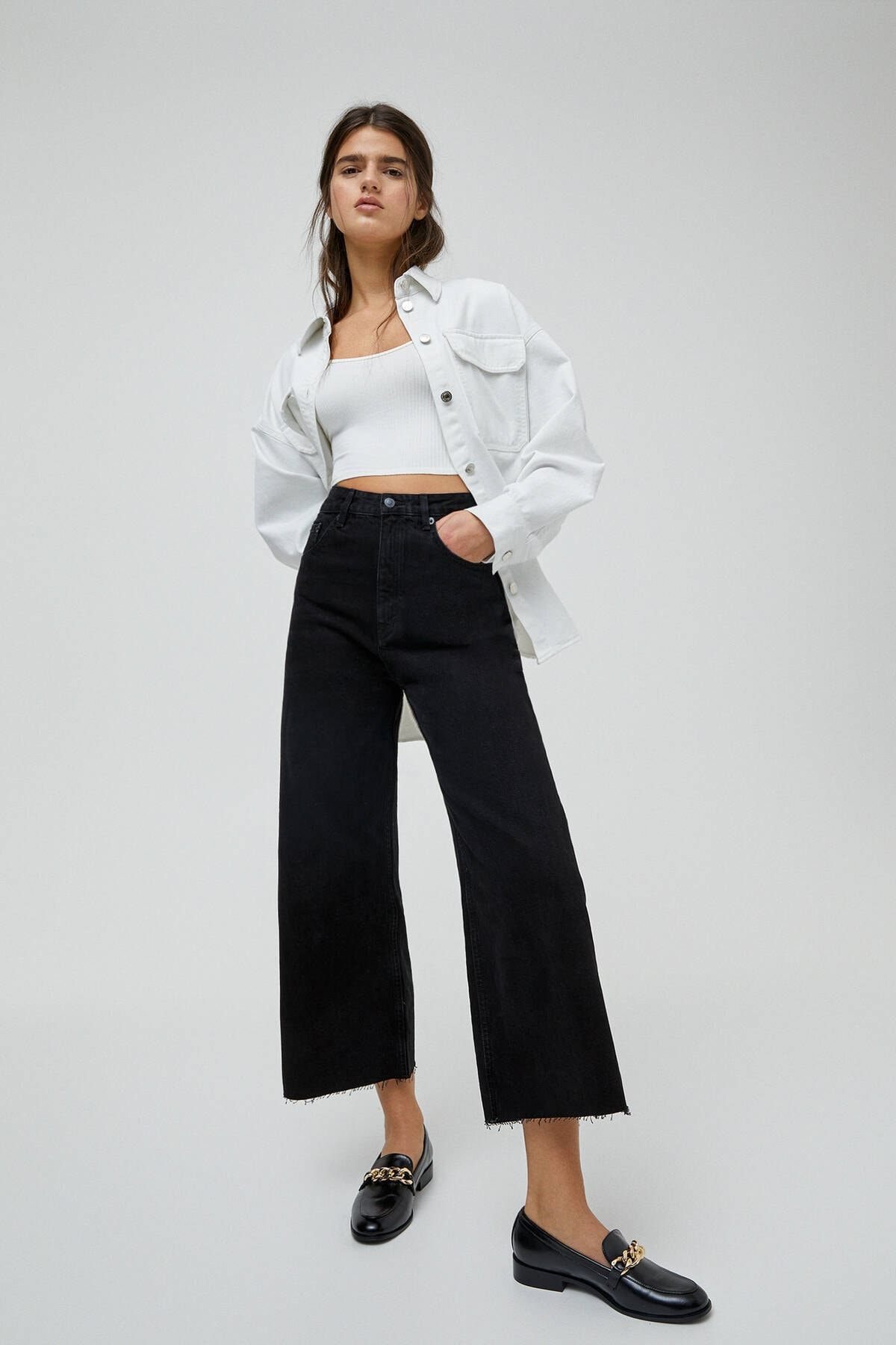 Pull & Bear Basic Petite Culotte Jean 0