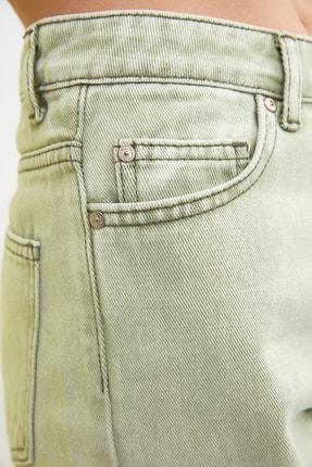 TRENDYOLMİLLA Haki Yüksek Bel Mom Jeans TWOSS21JE0172 3