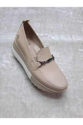 Mammamia Kadın Dolgu Deri Taban Düşüklüğü Ve Topuk Dikenine Uygun Günlük Ayakkabısı 0
