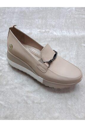 Mammamia Kadın Dolgu Deri Taban Düşüklüğü Ve Topuk Dikenine Uygun Günlük Ayakkabısı 3