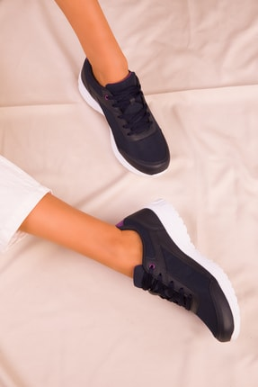 Soho Exclusive Lacivert-Mor Kadın Sneaker 15930 2