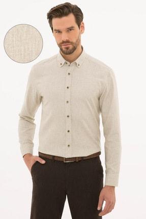 Erkek Bej Regular Fit Gömlek G021SZ004.000.1108835