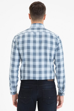 Pierre Cardin Erkek Lacivert Slim Fit Gömlek G021GL004.000.1214510 2