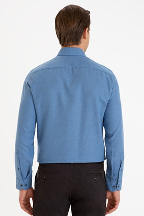 Pierre Cardin Erkek Lacivert Slim Fit Gömlek G021GL004.000.1214497 2