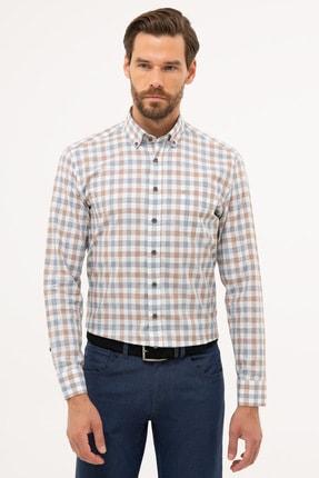 Pierre Cardin Erkek Kahverengi Detaylı Regular Fit Gömlek G021GL004.000.1113560 0