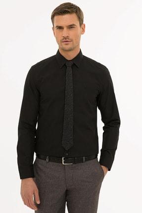 Pierre Cardin Erkek Siyah Slim Fit Basic Gömlek G021gl004.000.1214451 0