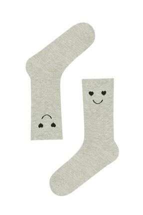 Penti Beyaz Sarı Smılıng 2li Soket Çorap 2