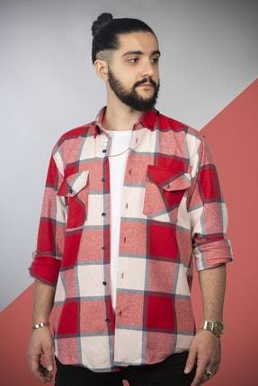 pawq Erkek Kırmızı Kareli Oduncu Gömleği 1