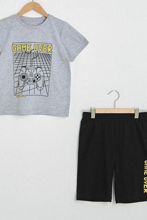 LC Waikiki Erkek Çocuk Yeni Siyah Cvl Pijama Takımı 2