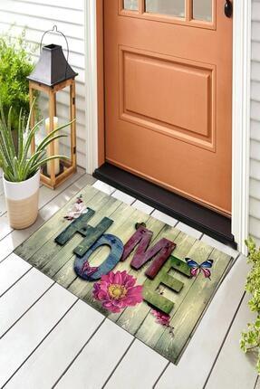 Evsebu Ahşap Renkli Home Dekoratif Kapı Önü Paspası 4