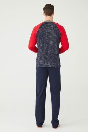 US Polo Assn Erkek Lacivert Yuvarlak Yaka Pijama Takım 2