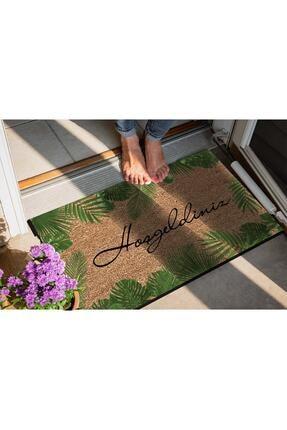 Evsebu Hoşgeldiniz Yaprak Dekoratif Kapı Önü Paspası 2