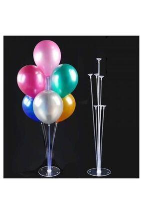 Partimarket Balon Standı 7 Çubuklu 75 Cm Ve 7 Adet Metalik Balon 1