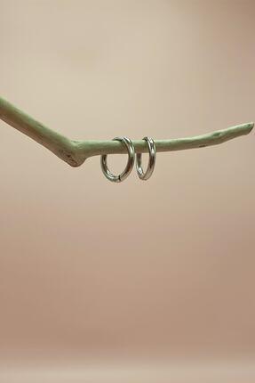 S&A Accessories Çelik Halka Küpe Küçük Boy Gümüş Rengi 2