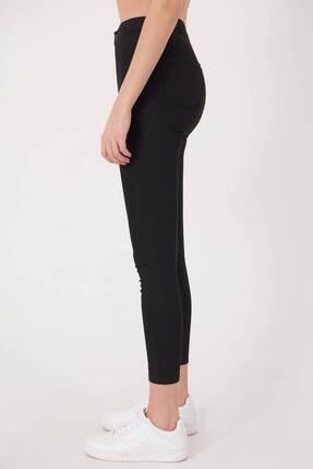 Addax Kadın Siyah Yüksek Bel Pantolon Pn10915 - G8Pnn Adx-0000013630 2