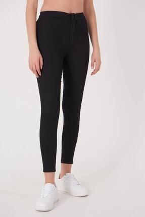 Addax Kadın Siyah Yüksek Bel Pantolon Pn10915 - G8Pnn Adx-0000013630 3