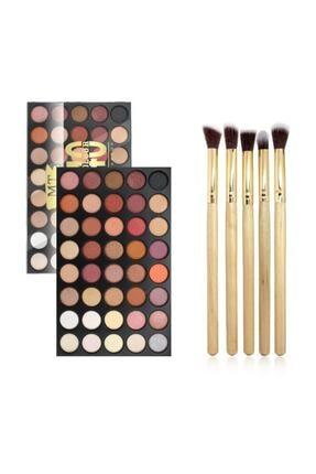 Makeuptime 40'lı Renkli Göz Farı Palet+far Fırça Seti 0